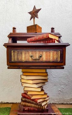"""A Broken """"Something"""" Becomes a Bookish Side Table"""