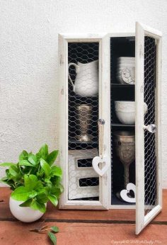 Upcycle a CD Tower Into a Rustic Farmhouse Cabinet