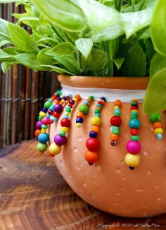2 Easy Ways to Make Ndebele Planters
