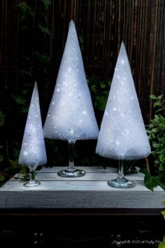 Easy Budget-Friendly Wine Glass Christmas Trees