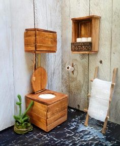 How to Make a Miniature Victorian Toilet