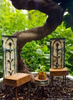Tin Ceiling Fairy Garden Furniture Set – DIY