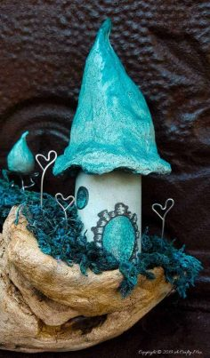 Driftwood Fairy Scape with a Twist of Cotton