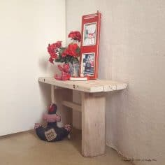 A Pallet Side Table for an Awkward Space