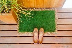 Make an AstroTurf Doormat to Keep the Dirt Out