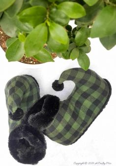How to Make Flip Flop Flannel Elf Slippers