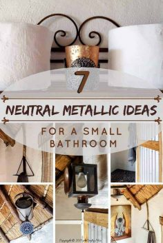 7 Ways to Include Neutral Metallics in a Tiny Bathroom