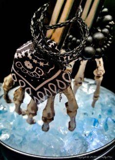 Repurposed Skeleton Hand Ice Tongs  – A Humerus Halloween Craft