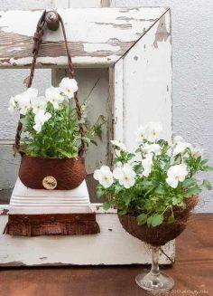Recycled Tin Can Handbag Planter
