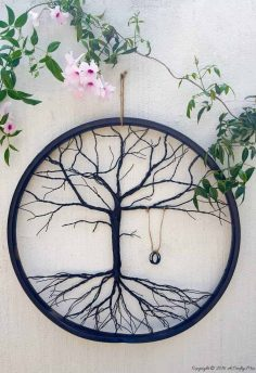 Re-purpose a Bicycle Wheel to Make a Tree of Life